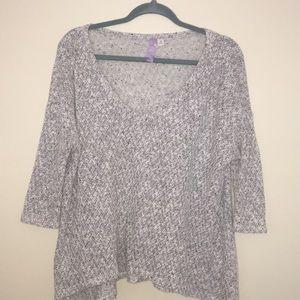 Francesca's Light Gray V neck Sweater